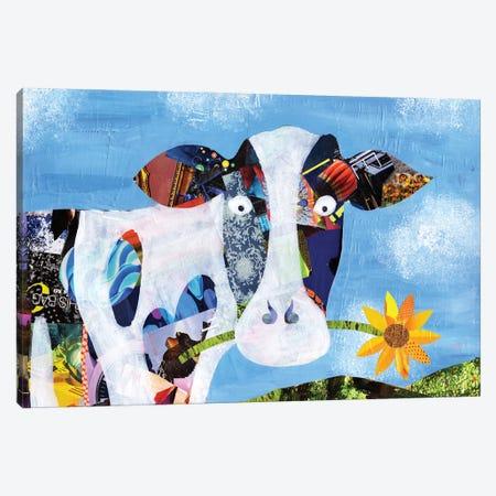 Cow Canvas Print #APT12} by Artpoptart Canvas Art Print