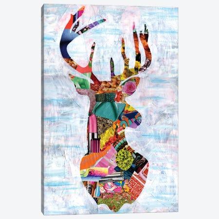 Deer Canvas Print #APT13} by Artpoptart Canvas Print