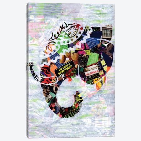 Elephant Canvas Print #APT14} by Artpoptart Canvas Art