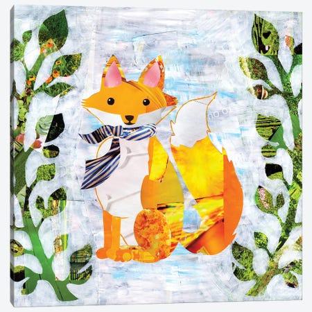 Fox Canvas Print #APT16} by Artpoptart Canvas Artwork
