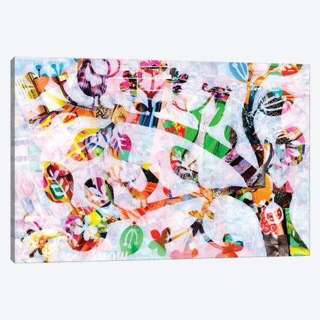 Girly Bird Canvas Print #APT18} by Artpoptart Art Print