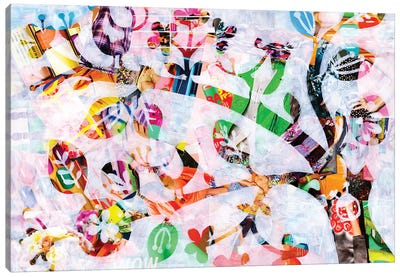 Girly Bird Canvas Art Print