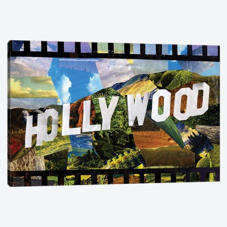 Hollywood Canvas Print #APT19} by Artpoptart Canvas Print