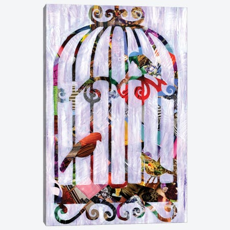 Bird Cage Canvas Print #APT1} by Artpoptart Canvas Print