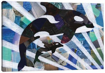 Killer Cute Whales Canvas Art Print