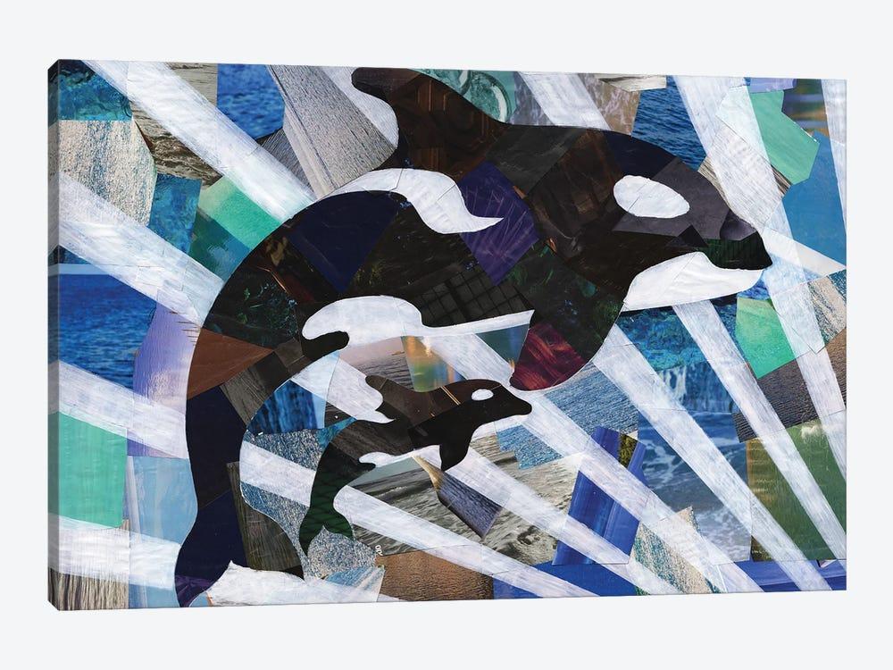 Killer Cute Whales by Artpoptart 1-piece Art Print