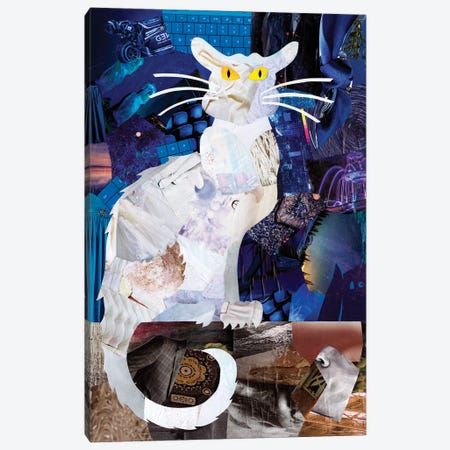 Le Chat Blanc Canvas Print #APT25} by Artpoptart Canvas Art Print