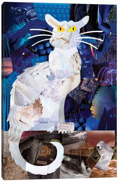 Le Chat Blanc Canvas Art Print