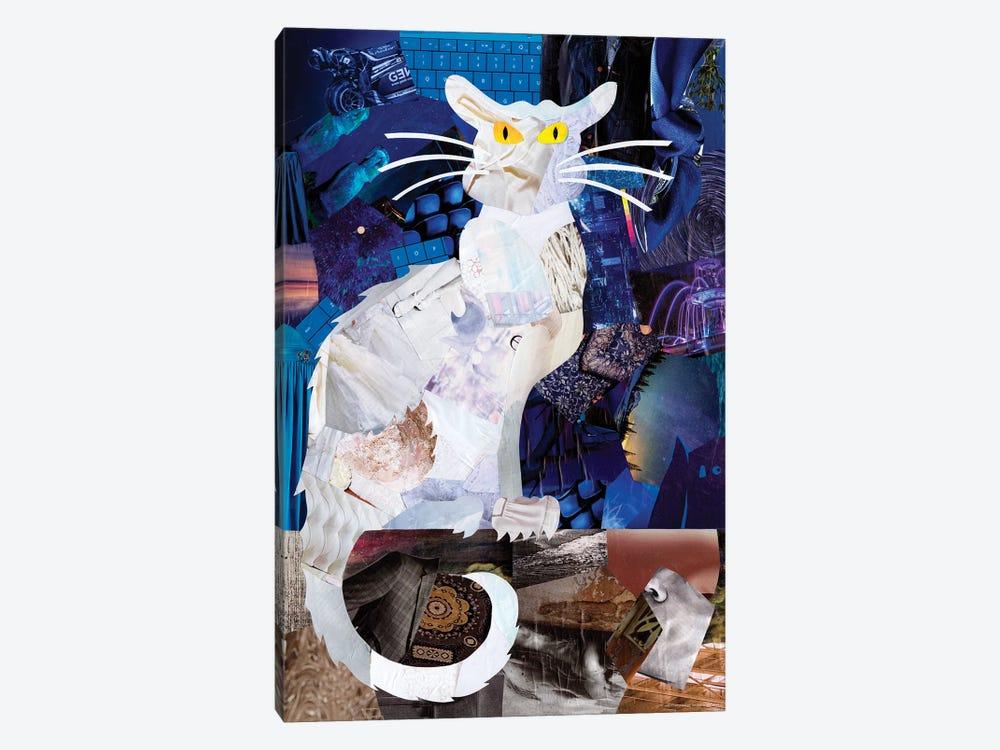 Le Chat Blanc by Artpoptart 1-piece Canvas Art Print