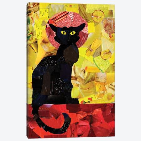 Le Chat Noir Canvas Print #APT26} by Artpoptart Art Print