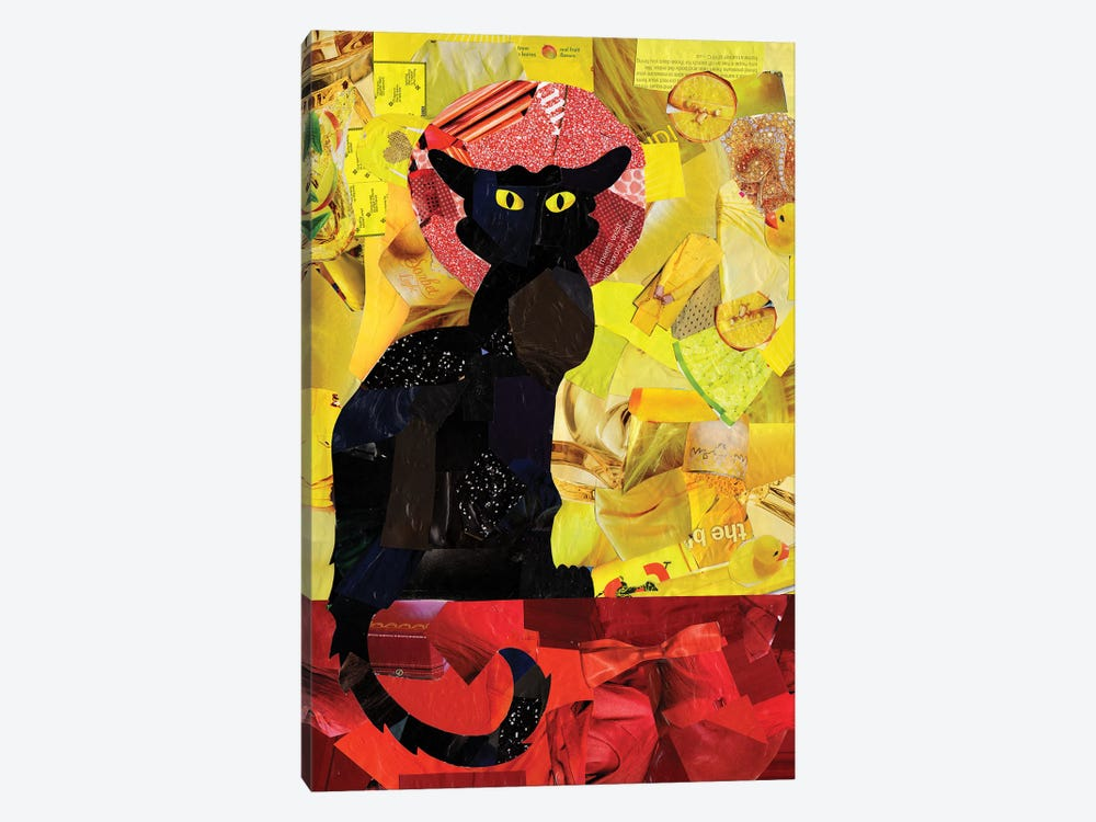 Le Chat Noir by Artpoptart 1-piece Canvas Artwork