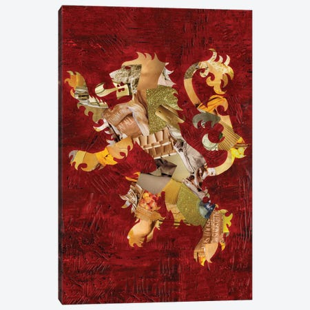 Lion Crest Canvas Print #APT27} by Artpoptart Canvas Art Print