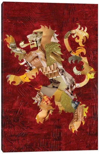 Lion Crest Canvas Art Print