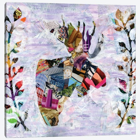 Moose Canvas Print #APT29} by Artpoptart Canvas Artwork