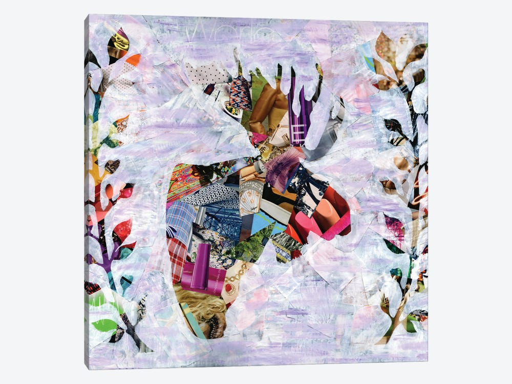 Moose by Artpoptart 1-piece Canvas Art Print