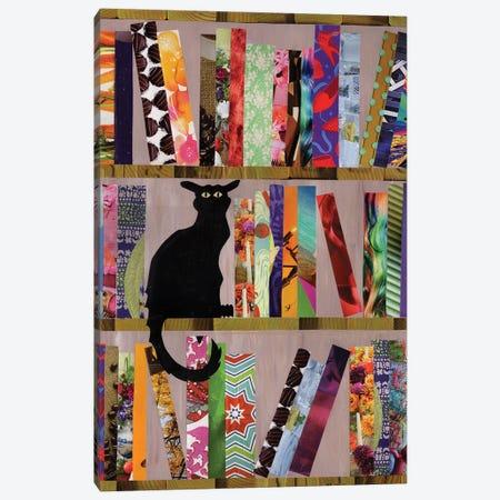 Bookcat Canvas Print #APT2} by Artpoptart Canvas Print