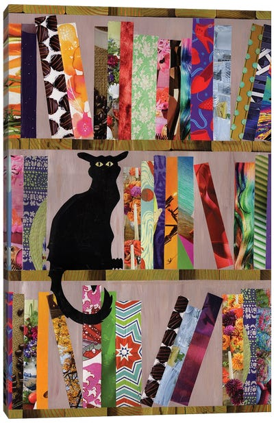 Bookcat Canvas Art Print