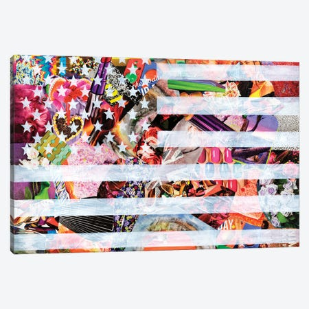 Murican Flag Canvas Print #APT30} by Artpoptart Canvas Art Print