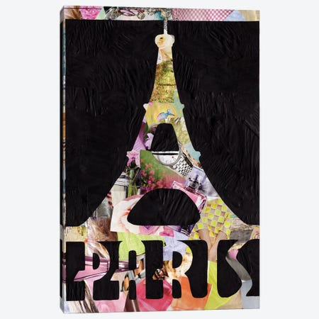 Paris Canvas Print #APT36} by Artpoptart Canvas Artwork