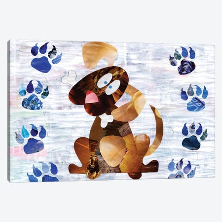 Puppy Canvas Print #APT39} by Artpoptart Canvas Art Print