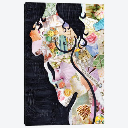 Brunette Canvas Print #APT3} by Artpoptart Canvas Art Print