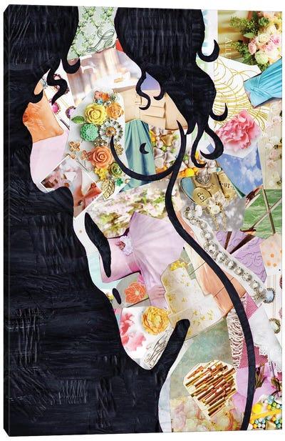 Brunette Canvas Art Print