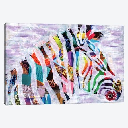 Purple Zebra Canvas Print #APT40} by Artpoptart Canvas Art