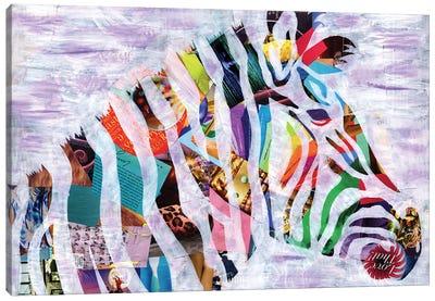 Purple Zebra Canvas Art Print