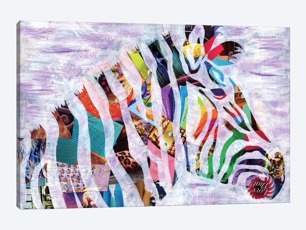 Purple Zebra by Artpoptart 1-piece Canvas Art
