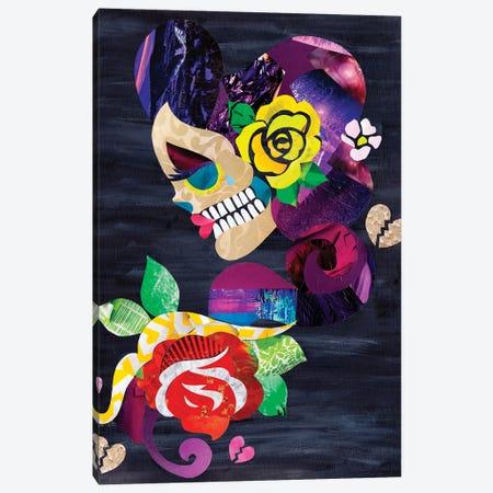 Sad Skull Canvas Print #APT44} by Artpoptart Canvas Art Print