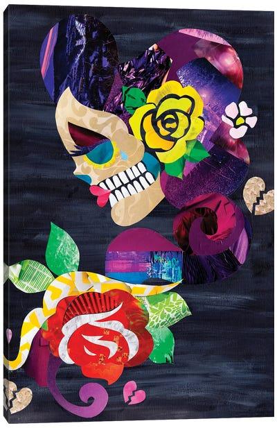 Sad Skull Canvas Art Print