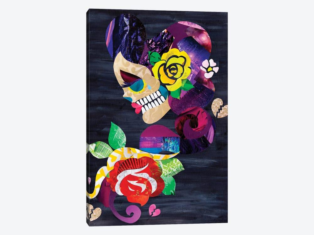 Sad Skull by Artpoptart 1-piece Canvas Wall Art