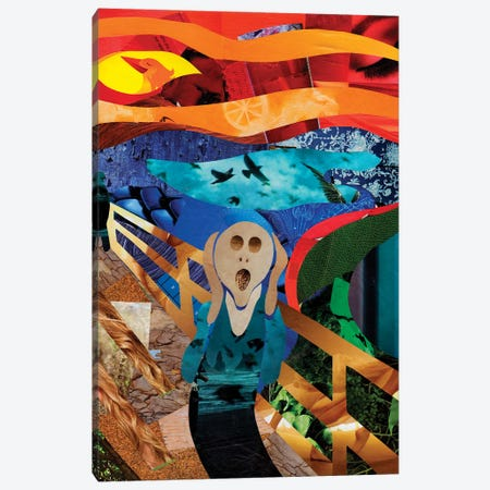 Scream Canvas Print #APT45} by Artpoptart Canvas Art Print