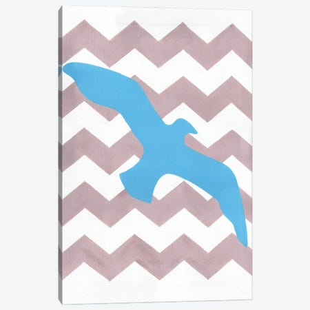 Seagull Canvas Print #APT47} by Artpoptart Art Print