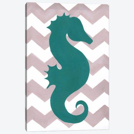 Seahorse Canvas Print #APT48} by Artpoptart Canvas Wall Art