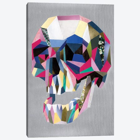 Skull Canvas Print #APT49} by Artpoptart Canvas Artwork
