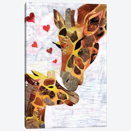 Sweet Giraffes Canvas Print #APT52} by Artpoptart Canvas Print