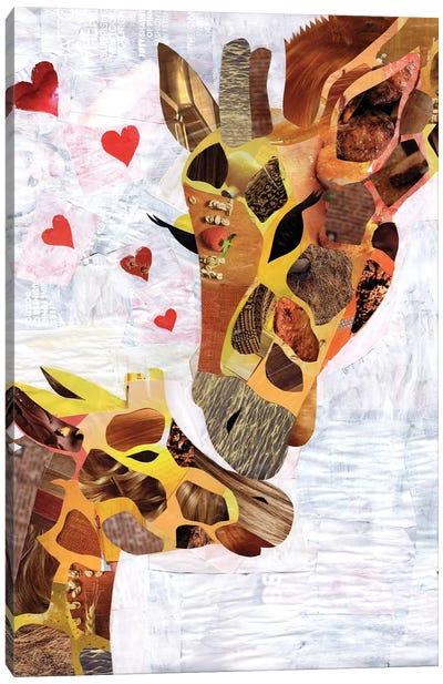 Sweet Giraffes Canvas Art Print