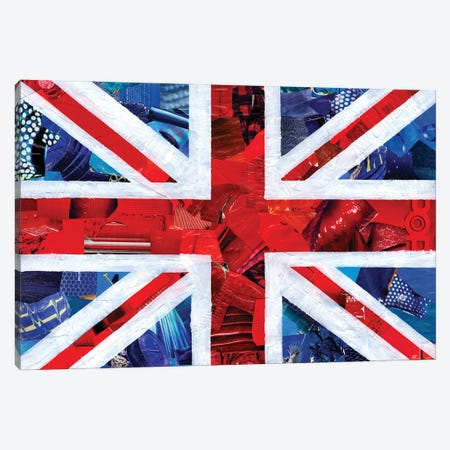 Union Jack Canvas Print #APT54} by Artpoptart Canvas Wall Art