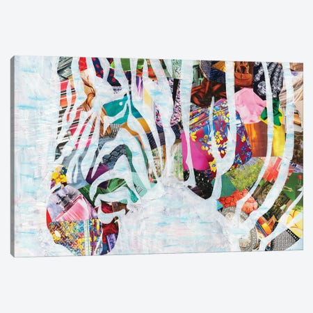 Zebra Canvas Print #APT57} by Artpoptart Canvas Artwork