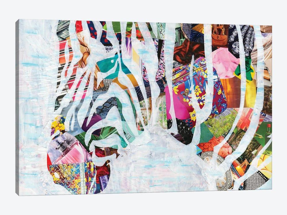 Zebra by Artpoptart 1-piece Canvas Wall Art