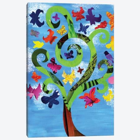 Butterfly Tree Canvas Print #APT5} by Artpoptart Canvas Art