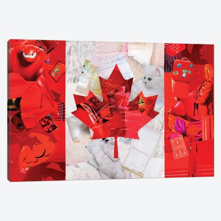 Canada Canvas Print #APT6} by Artpoptart Canvas Wall Art
