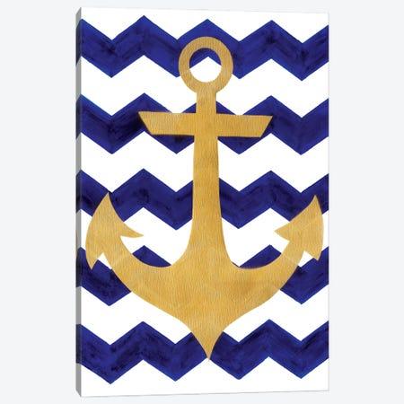 Chevron Anchor Canvas Print #APT9} by Artpoptart Art Print
