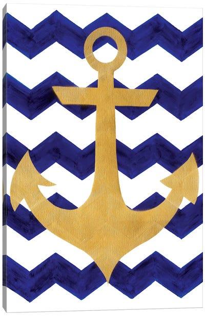 Chevron Anchor Canvas Art Print