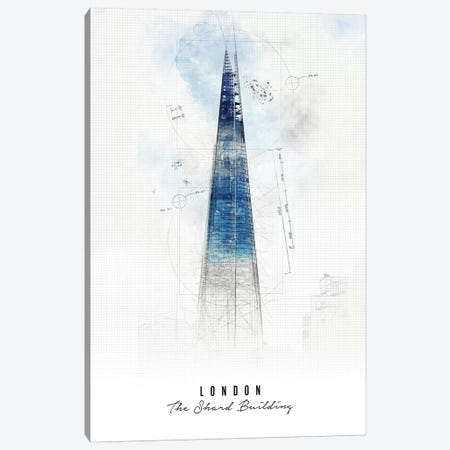 Shard Building - London Canvas Print #APV102} by ArtPrintsVicky Canvas Artwork