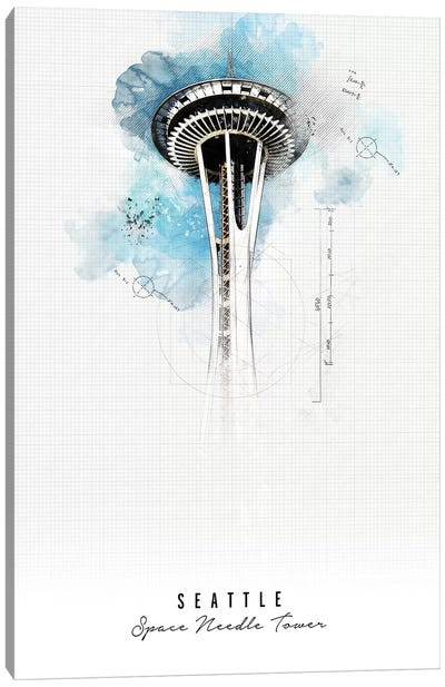 Space Needle - Seattle Canvas Art Print