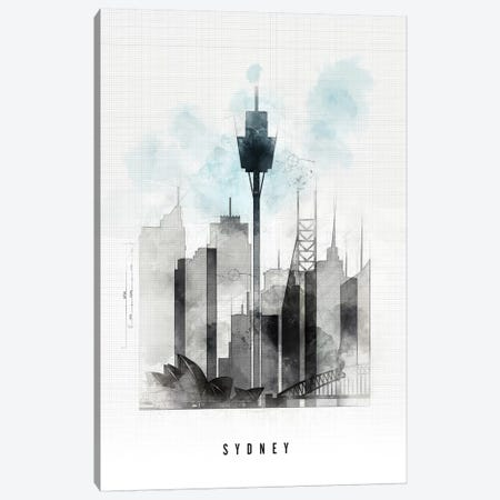 Sydney Urban Canvas Print #APV104} by ArtPrintsVicky Canvas Art Print