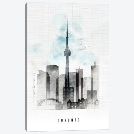 Toronto Urban Canvas Print #APV108} by ArtPrintsVicky Canvas Art
