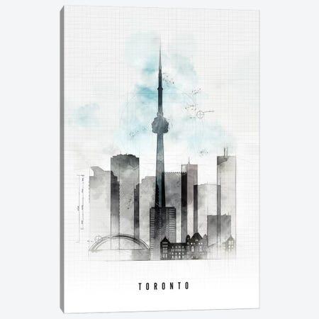 Toronto Urban Canvas Print #APV108} by ArtPrintsVicky Canvas Art